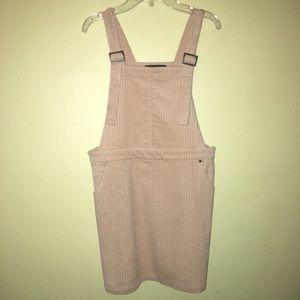 Corduroy Tan Overall Dress